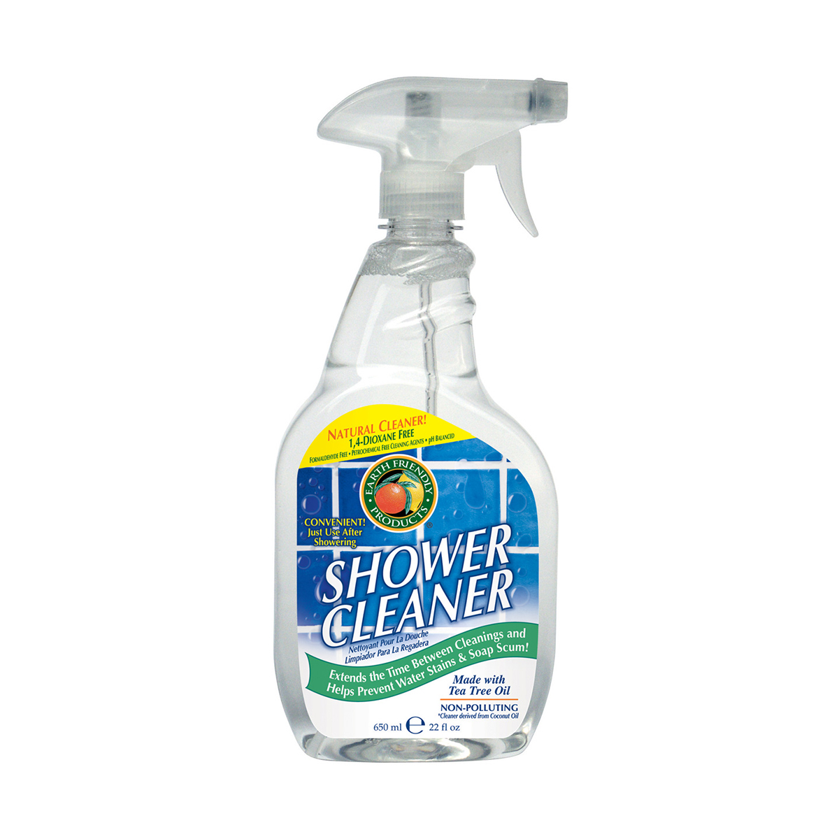 spray pentru curatarea dusului earth friendly, 650 ml