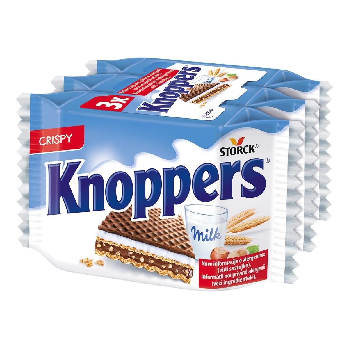 Napolitane crocante Knoppers, 3 buc x 25 g imagine