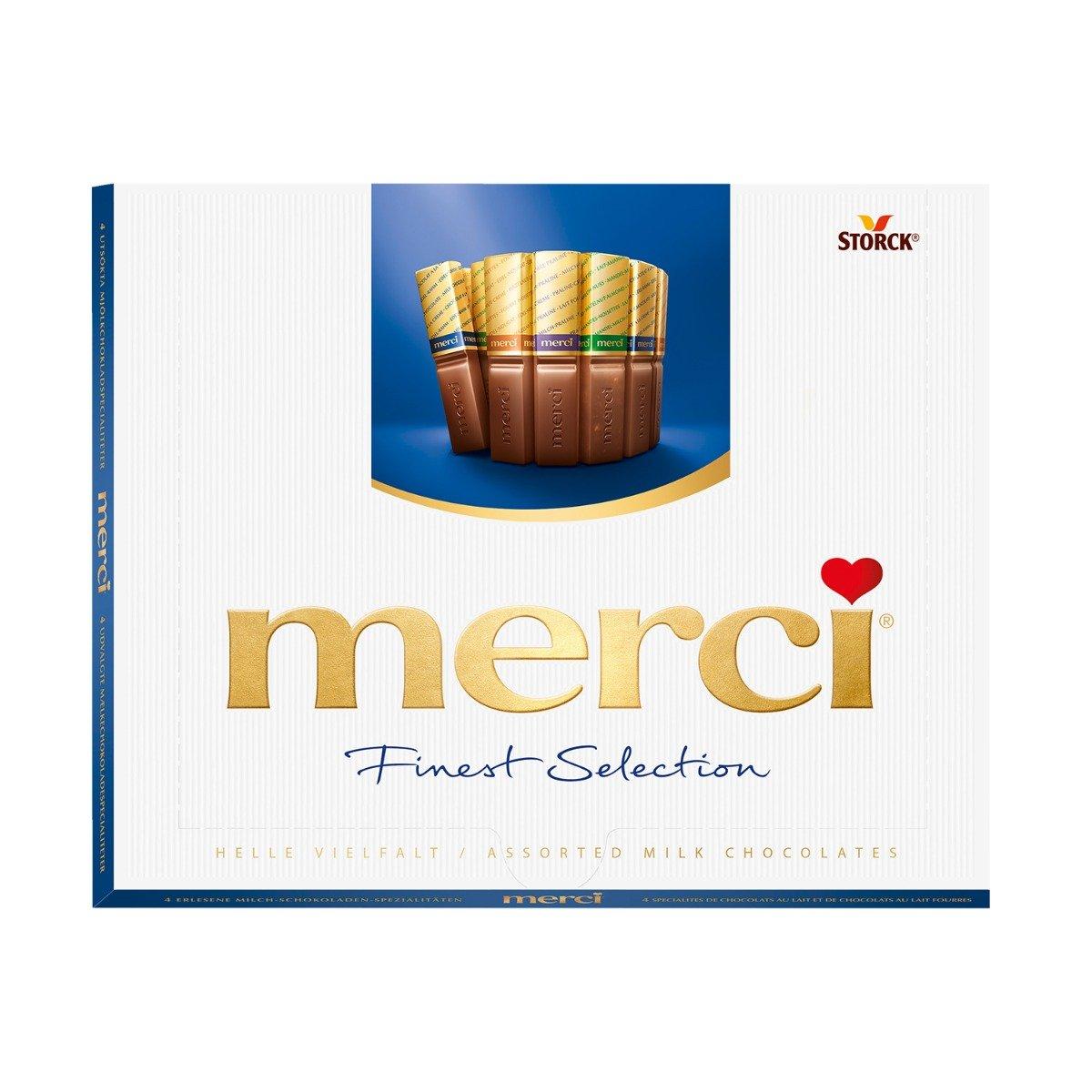 Praline de ciocolata asortata Merci, Albastru, 250 g imagine