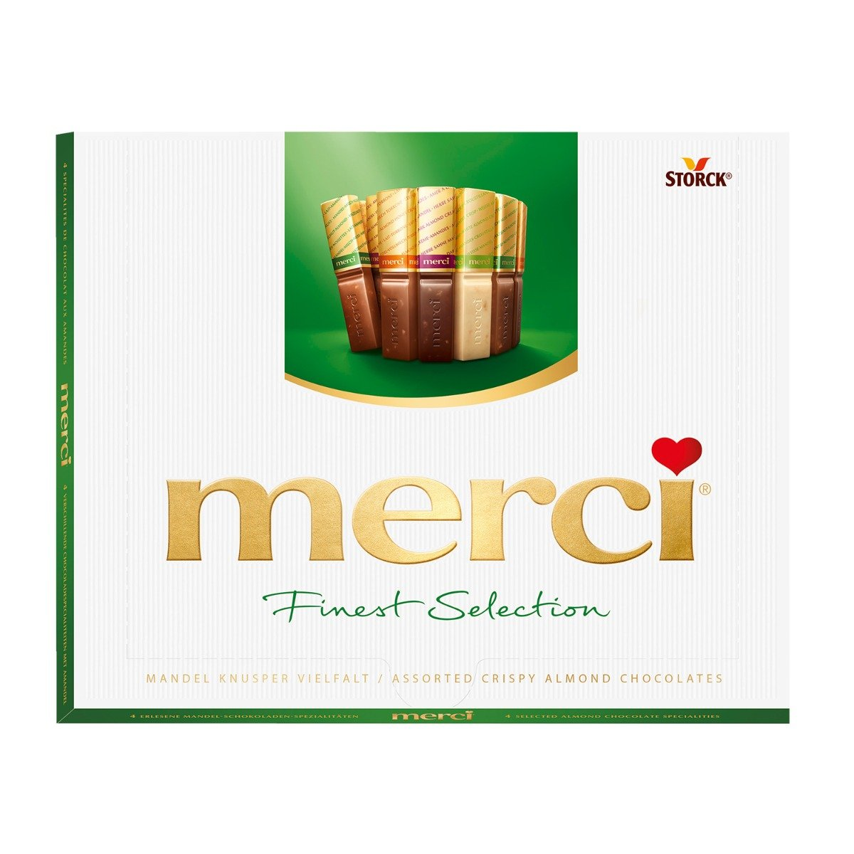 Praline de ciocolata asortata Merci, Verde, 250 g imagine