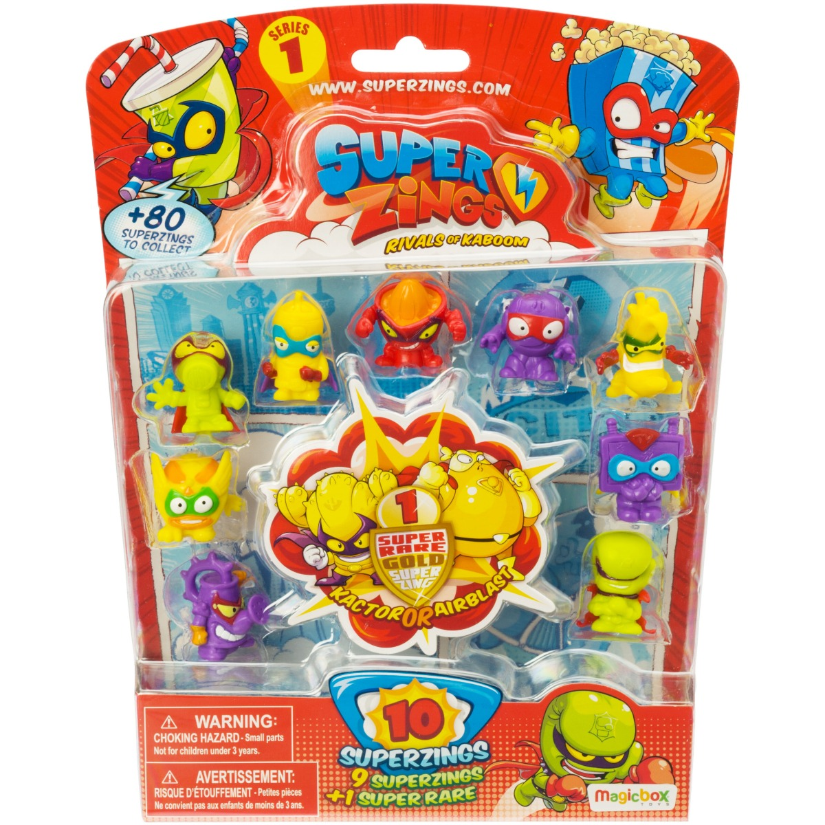 Set 10 figurine surpriza SuperZings Seria 1