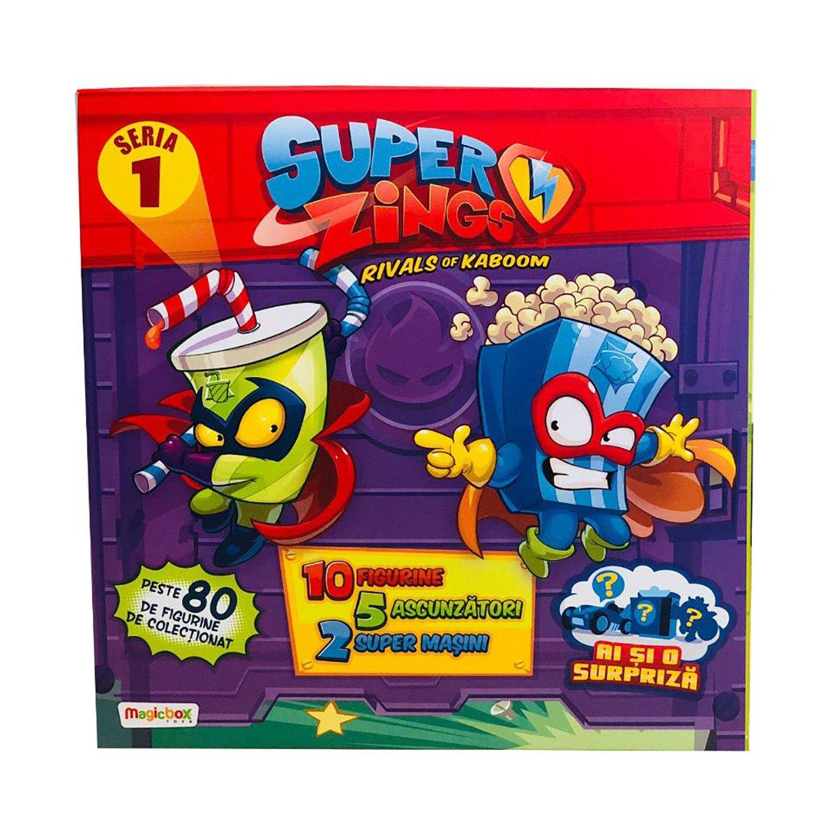 Pachet 18 jucarii Surpriza SuperZings, Seria 1