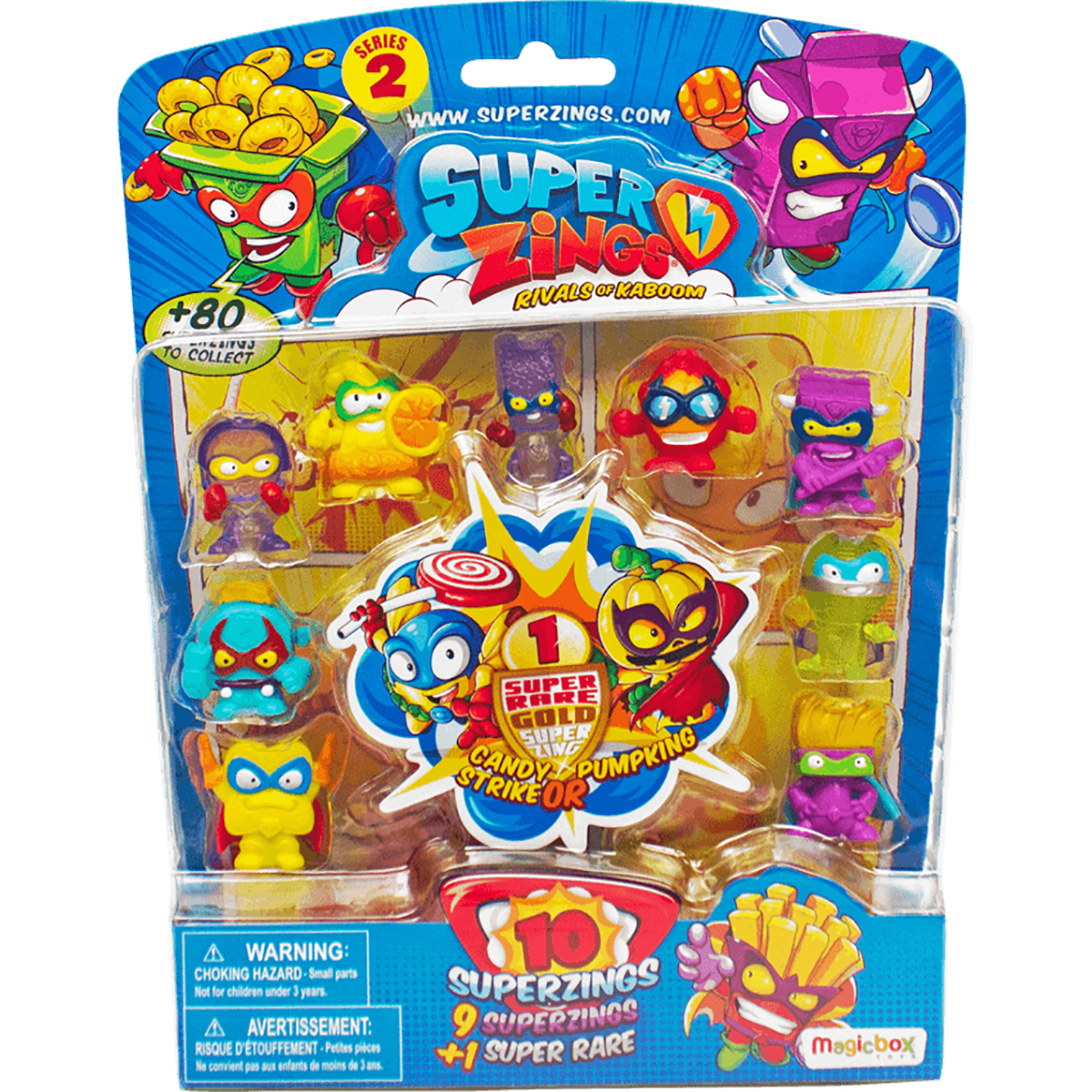Set 10 figurine surpriza SuperZings Seria 2