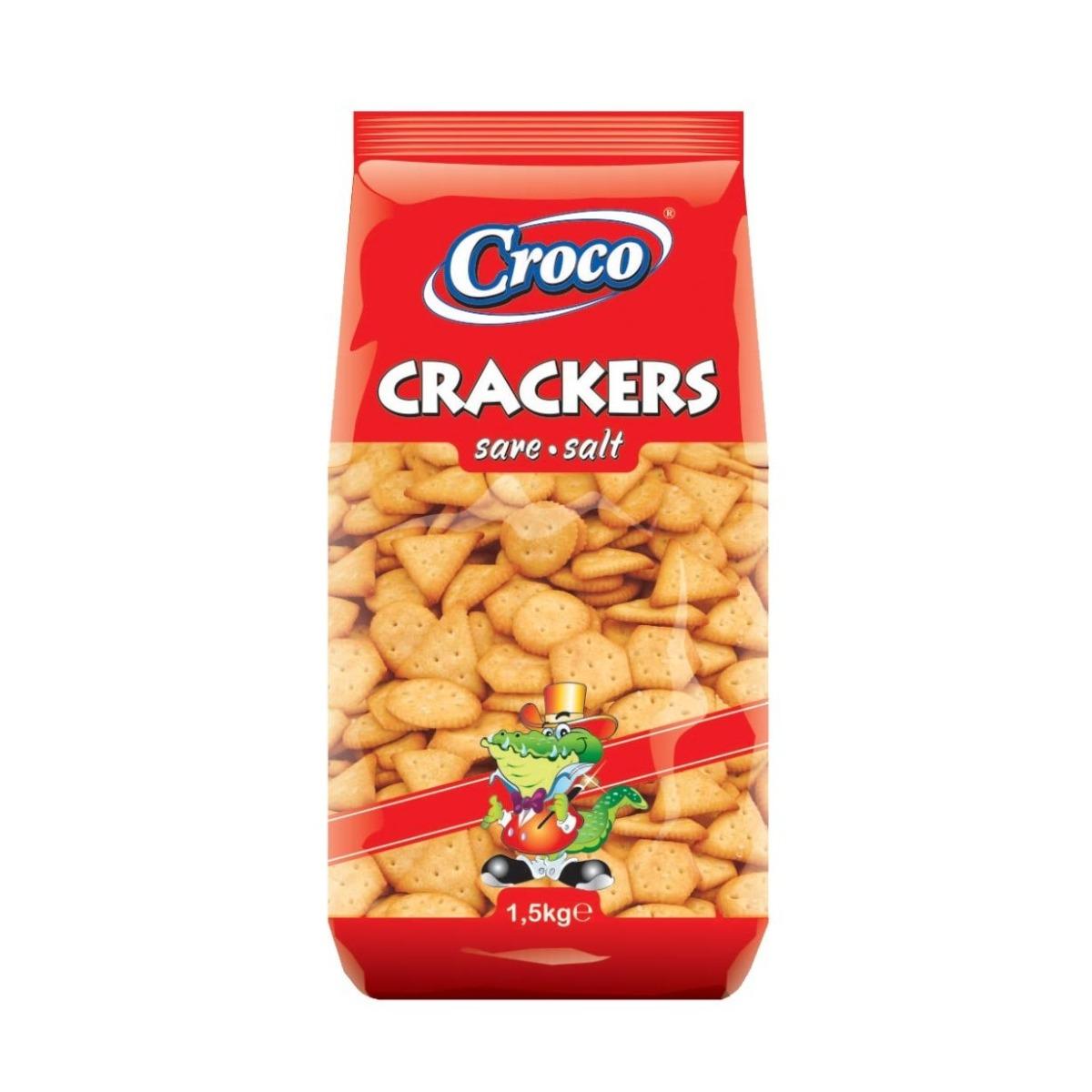 Biscuiti cu sare Croco Crackers, 1.5 kg imagine