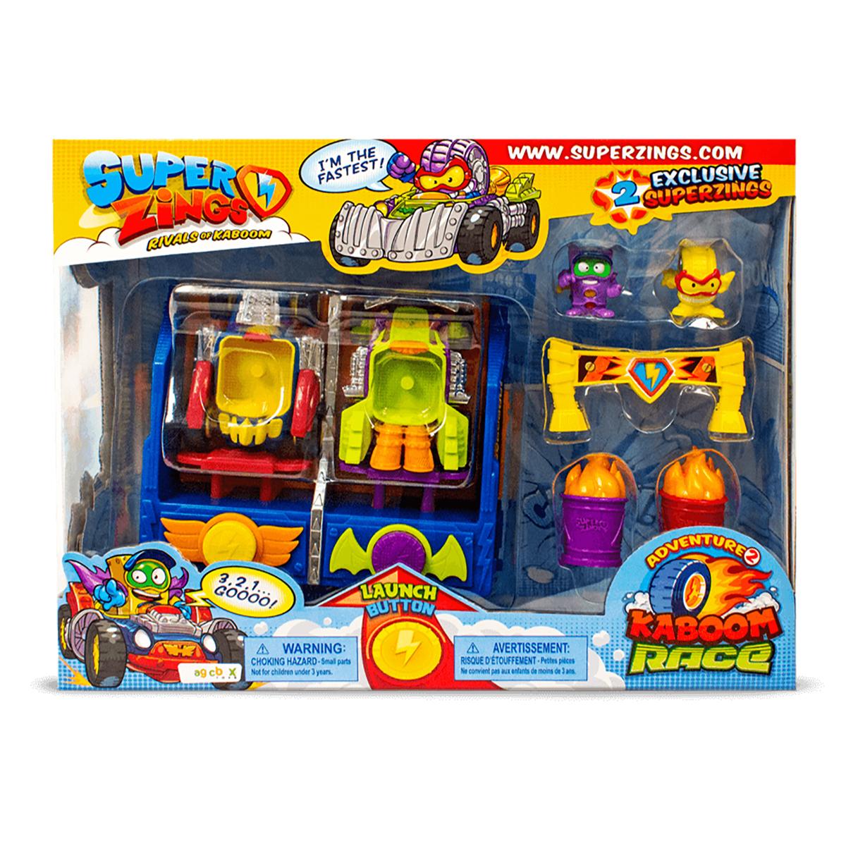 Set de joaca cu 2 figurine SuperZings, Cursa Kaboom