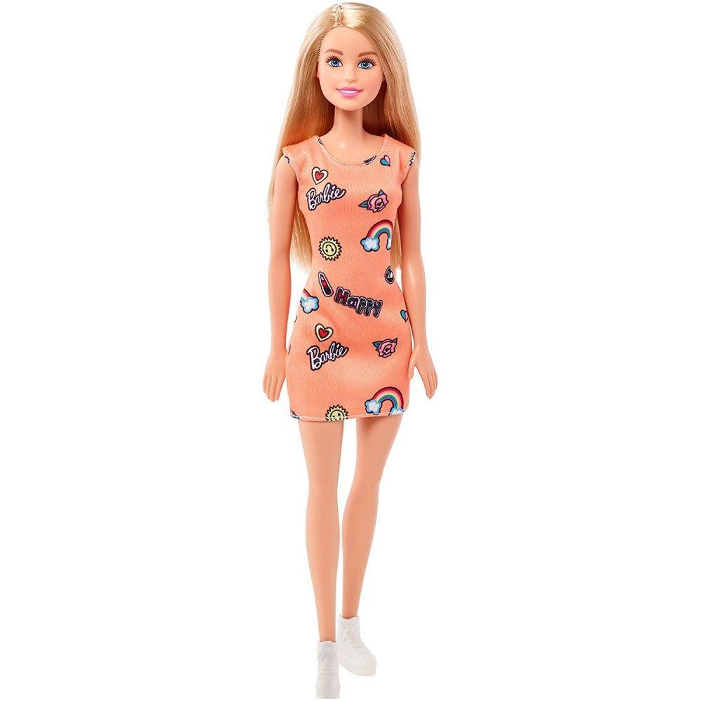 Papusa Barbie Clasic cu rochie orange, FJF14