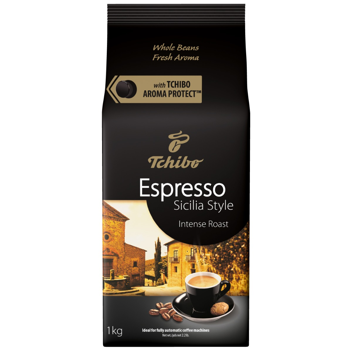 Cafea prajita boabe Tchibo Espresso Sicilia Style, 1 kg imagine