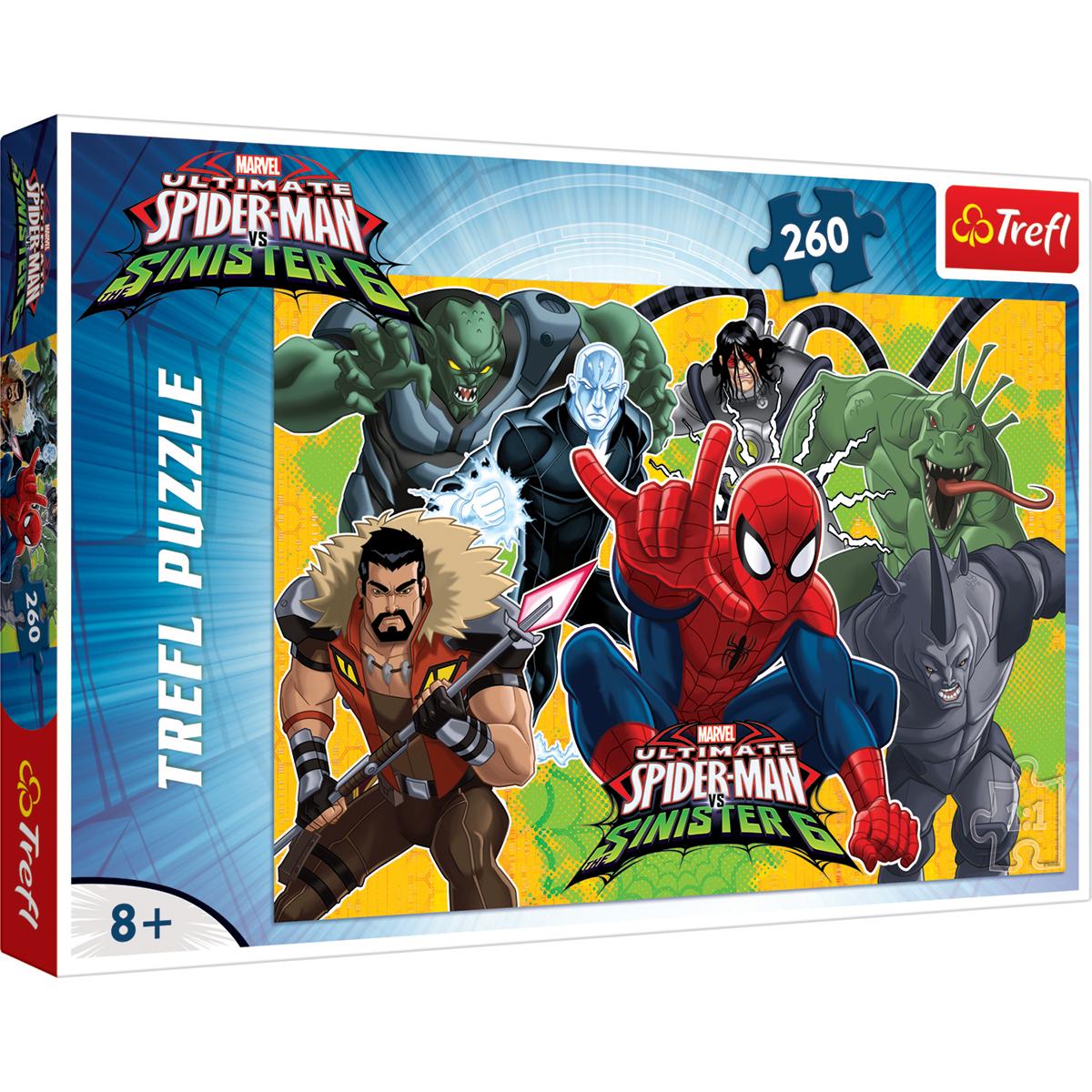 Puzzle Trefl 260 piese, Spiderman in actiune
