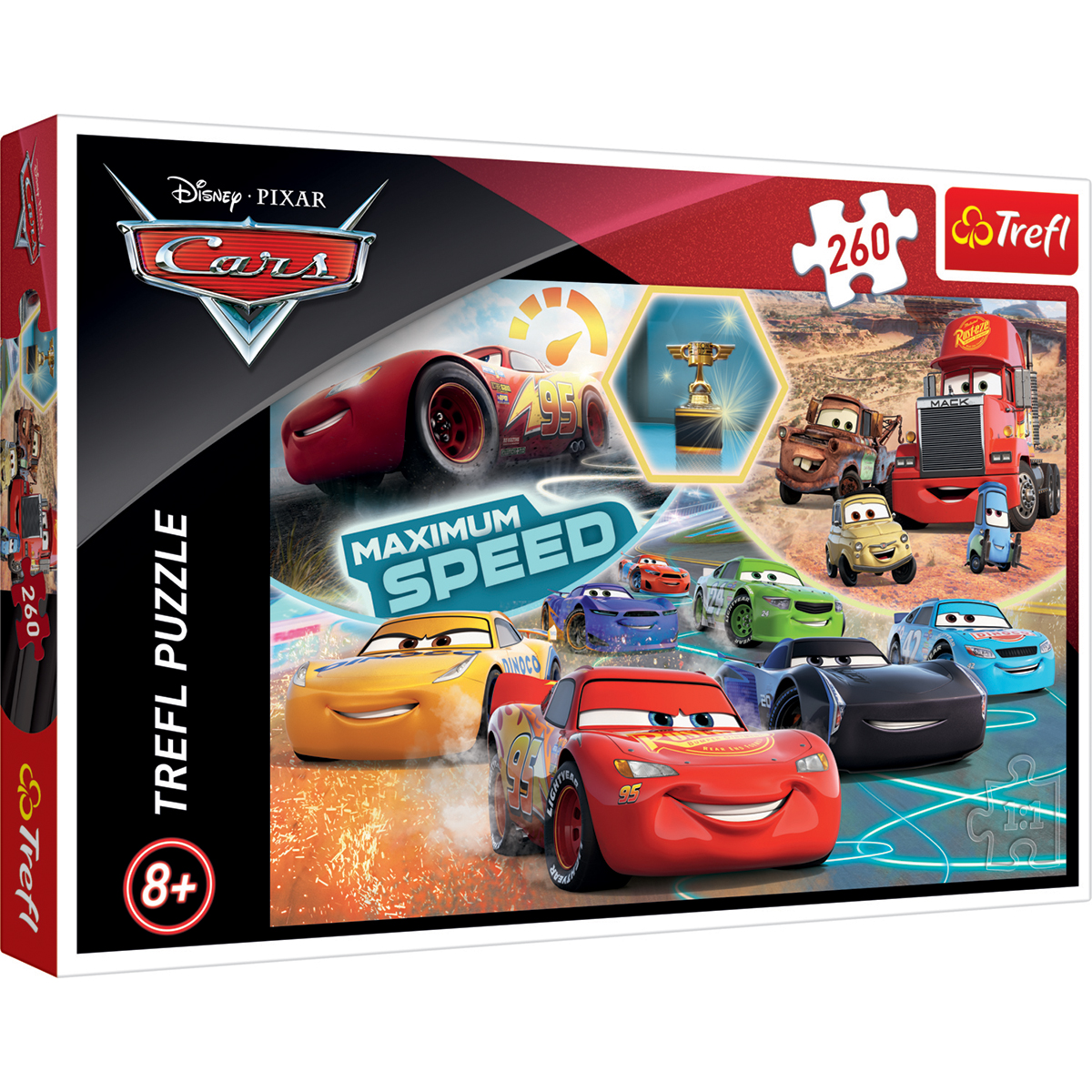 Puzzle Trefl 260 piese, Gala campionilor, Disney Cars 3