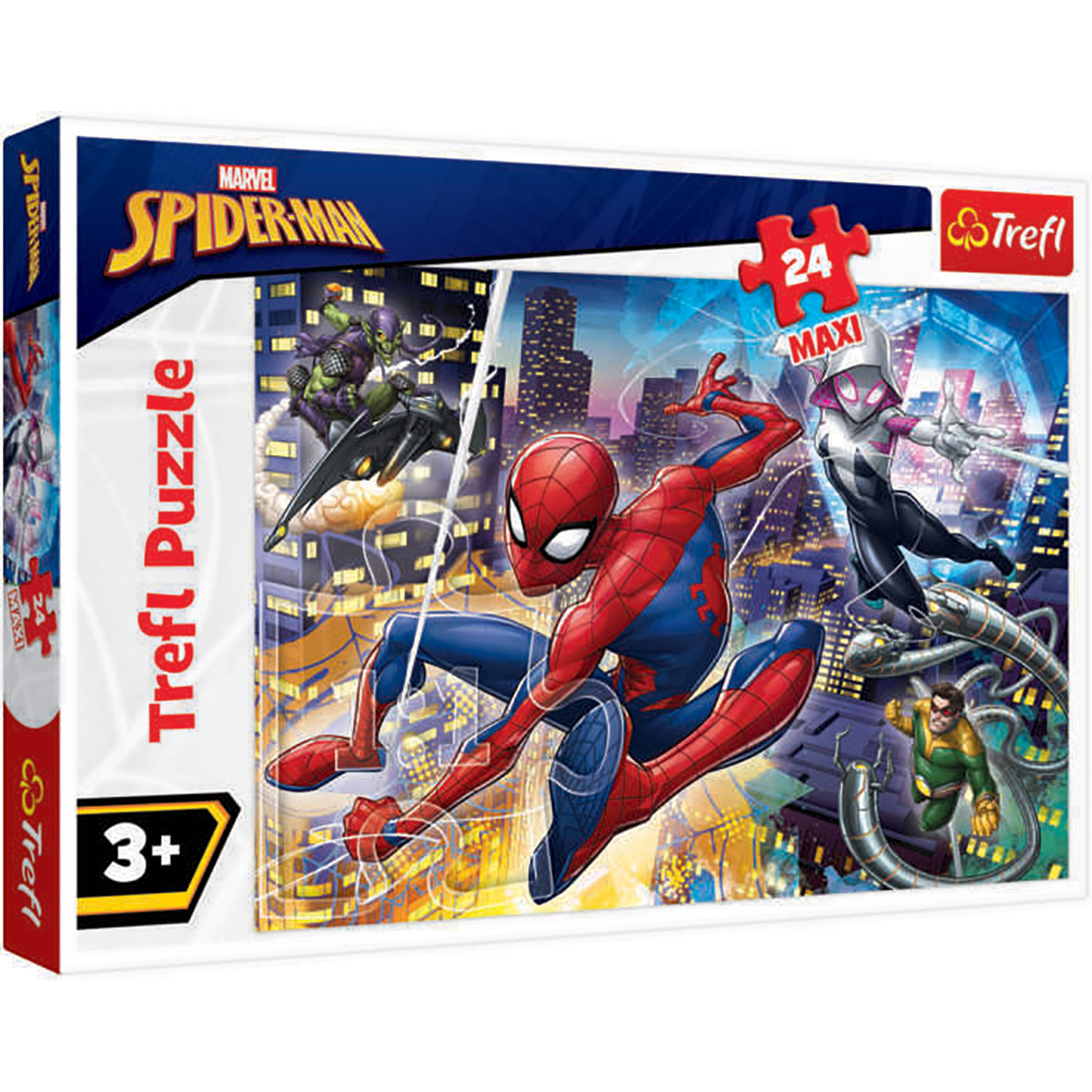 Puzzle Maxi Trefl, Neinfricatul Spiderman, 24 piese