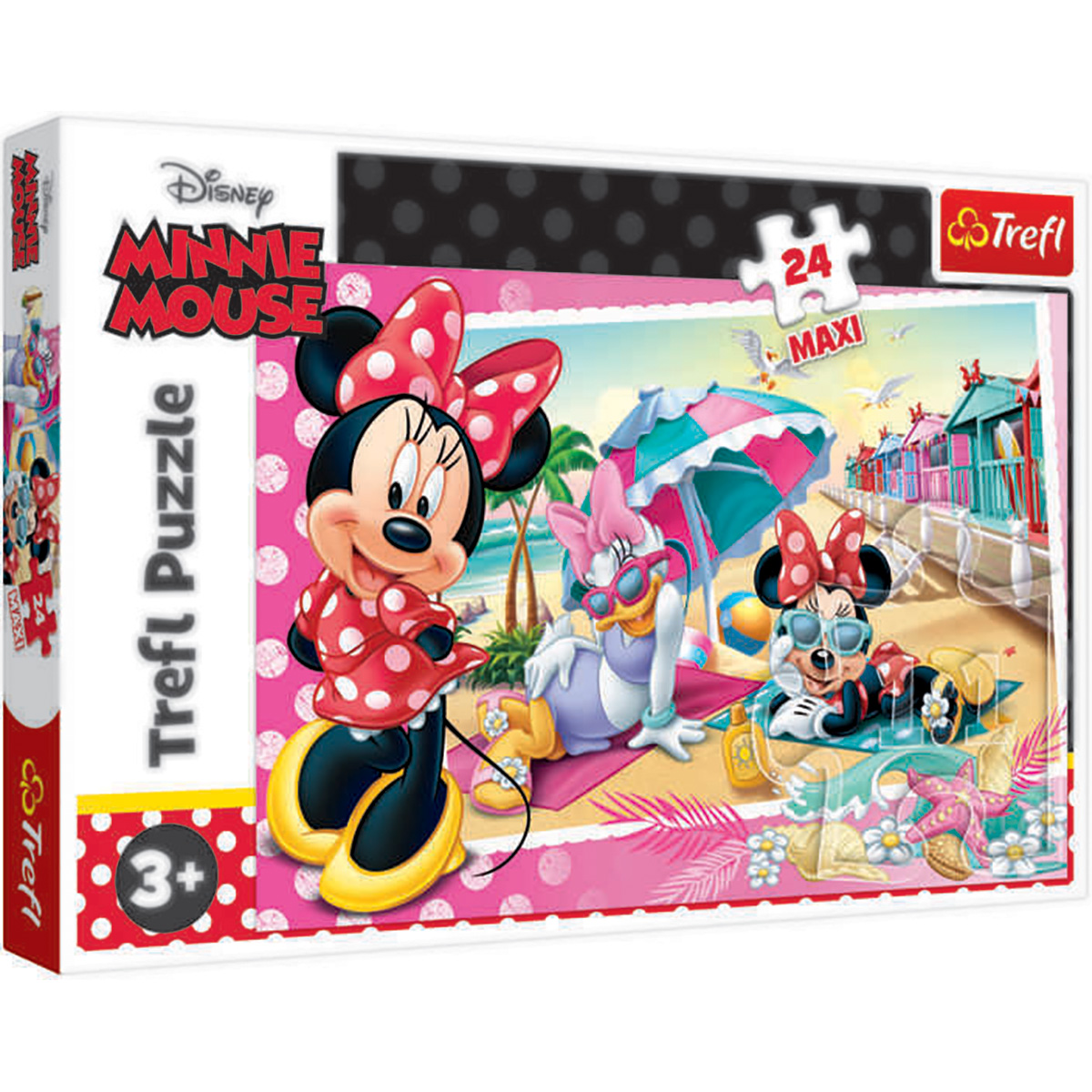 Puzzle Maxi Trefl, Minnie Mouse, In vacanta, 24 piese