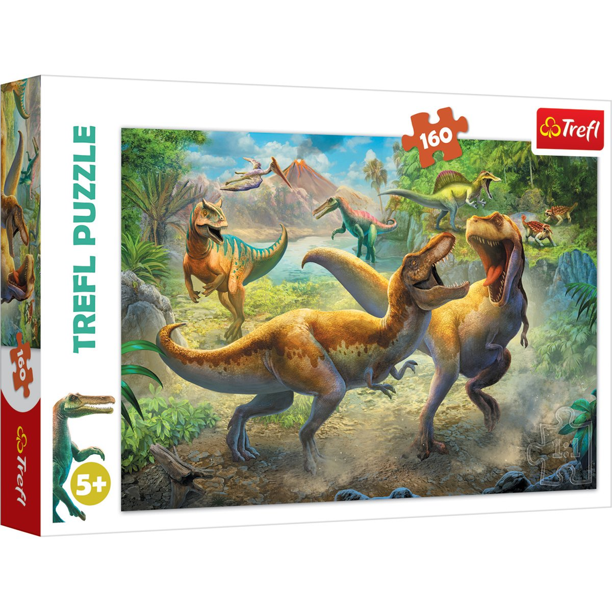 Puzzle Trefl 160 piese, In lupta cu Tiranozaurii