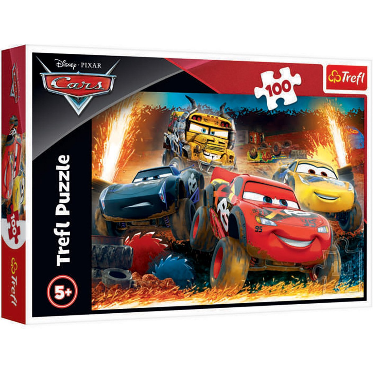 Puzzle Trefl, Disney Cars, Cursa extrema, 100 piese imagine 2021