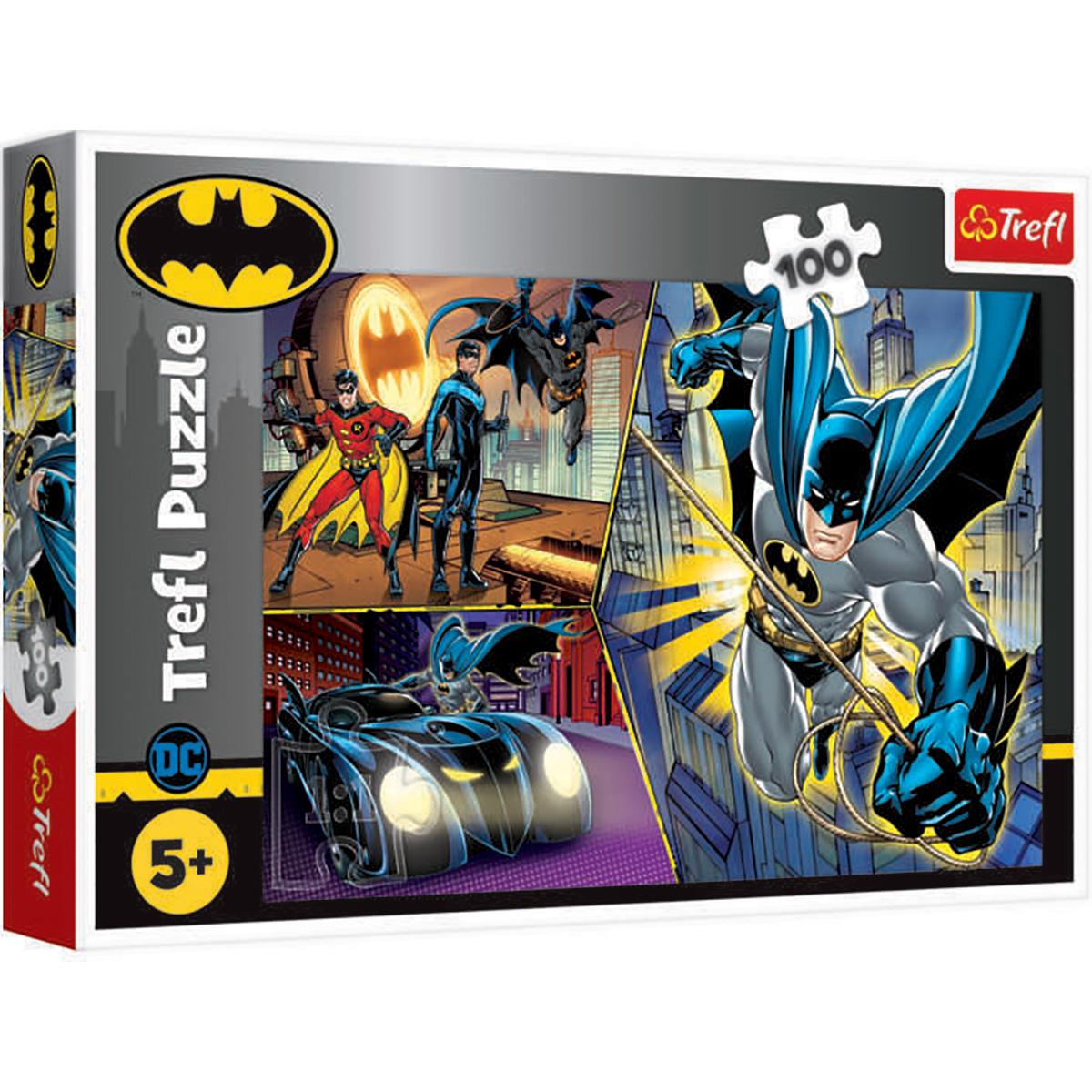 Puzzle Trefl, Neinfricatul Batman, 100 piese imagine