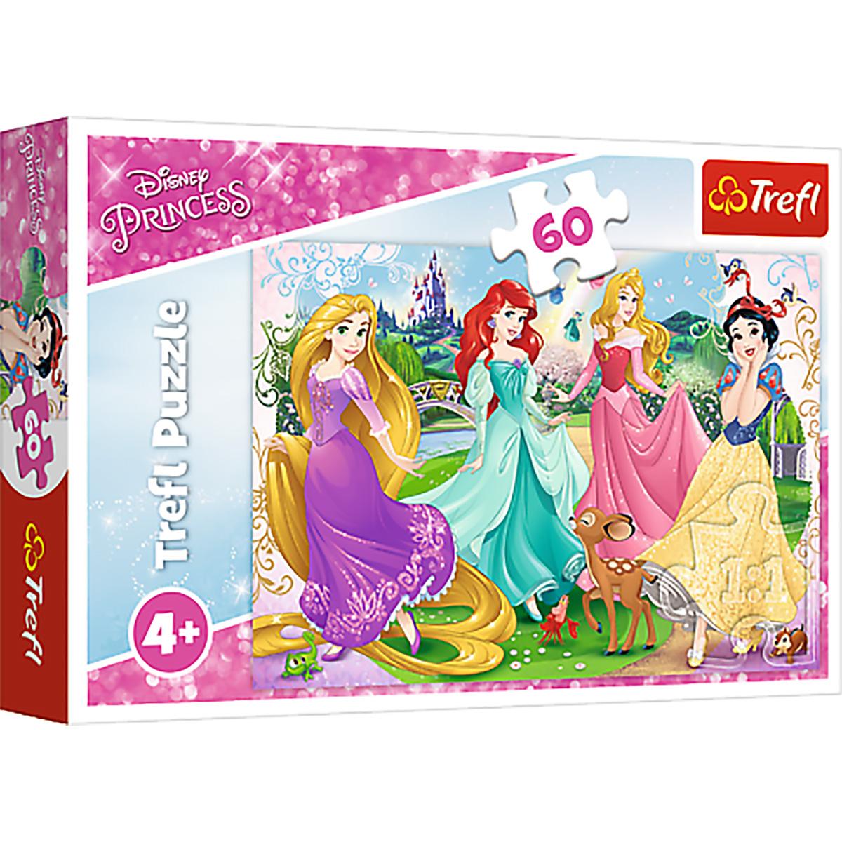 Puzzle Trefl, Disney Princess, Printesele favorite, 60 piese