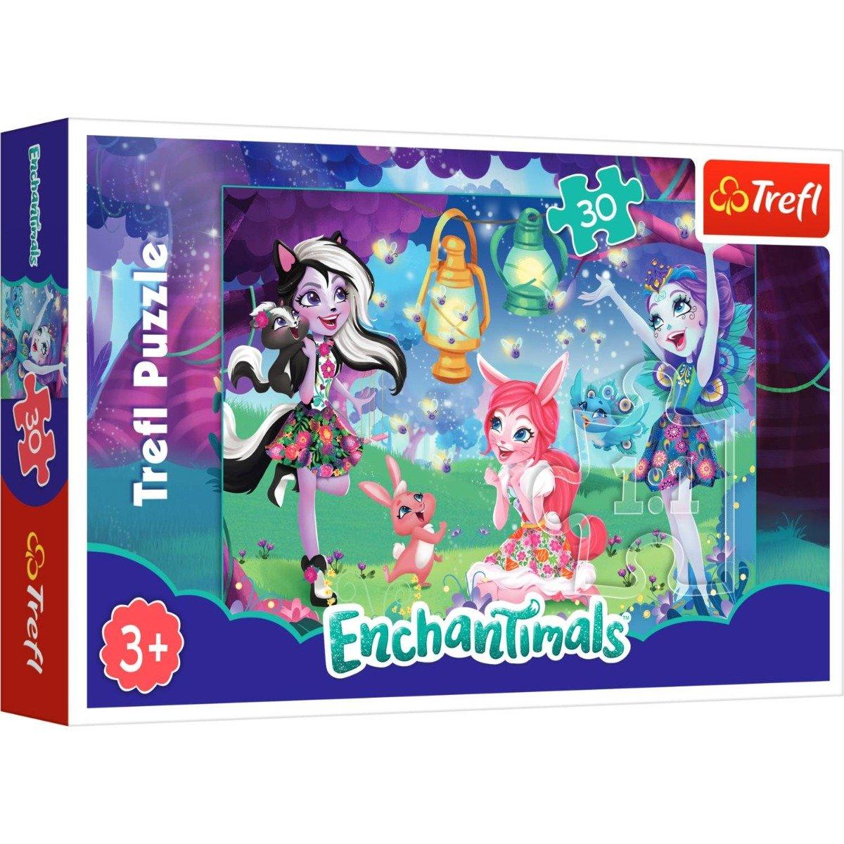 Puzzle Trefl 30 piese, Lumea magica a Enchantimals
