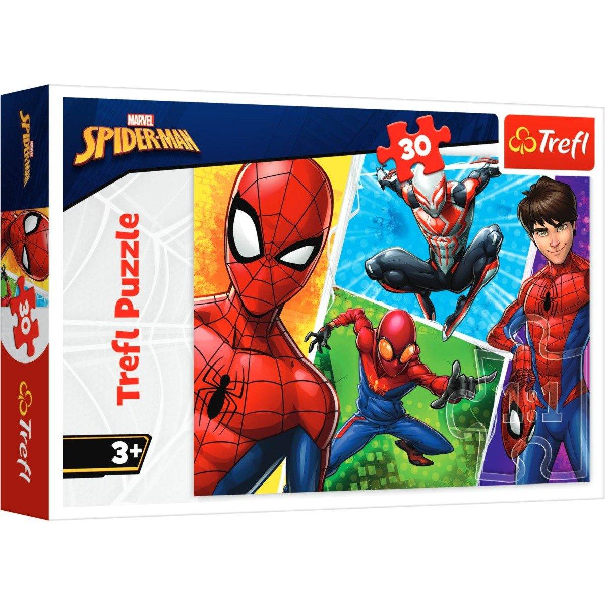 Puzzle Trefl 30 piese, Spiderman si Miguel