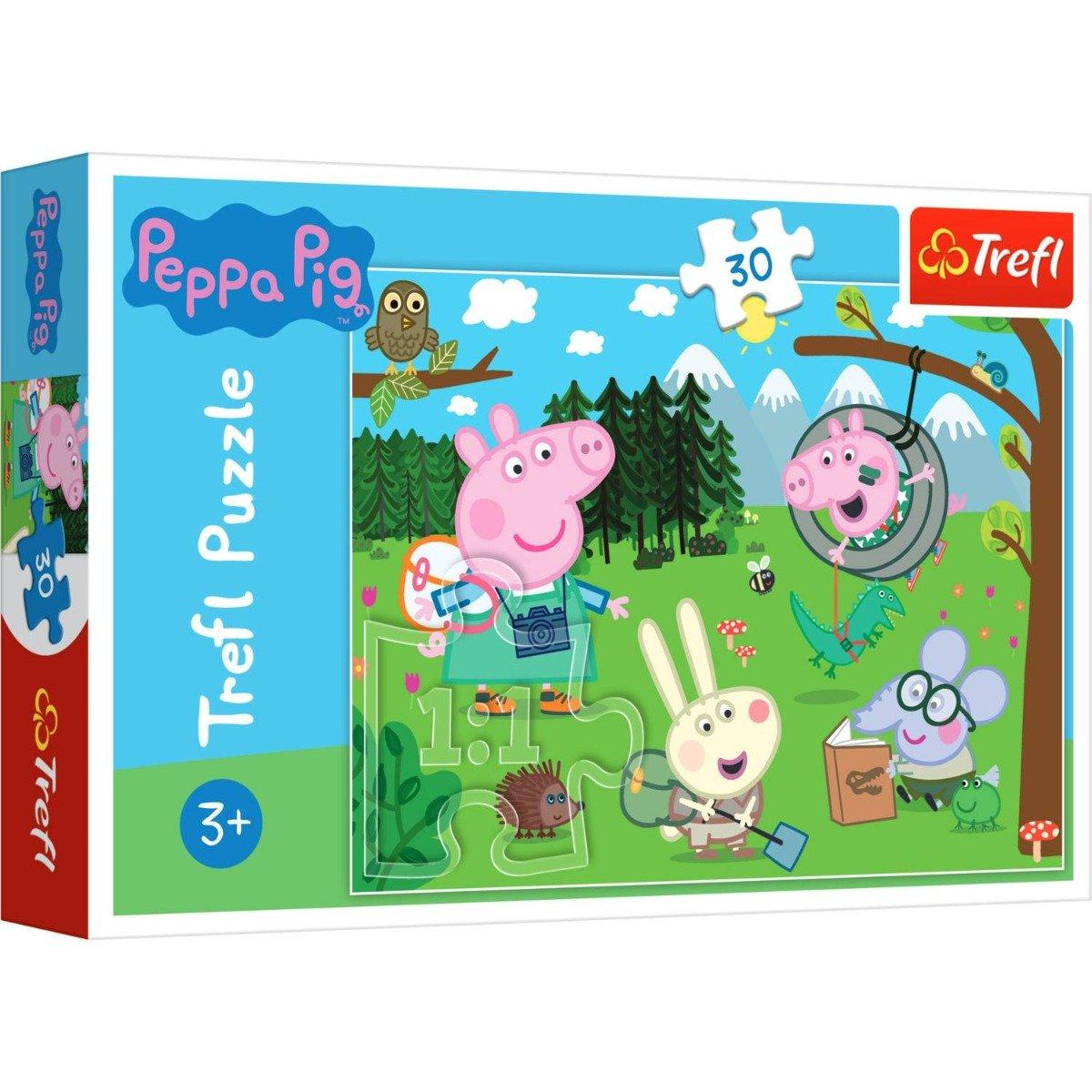 Puzzle Trefl 30 piese, Expeditie in padure, Peppa Pig