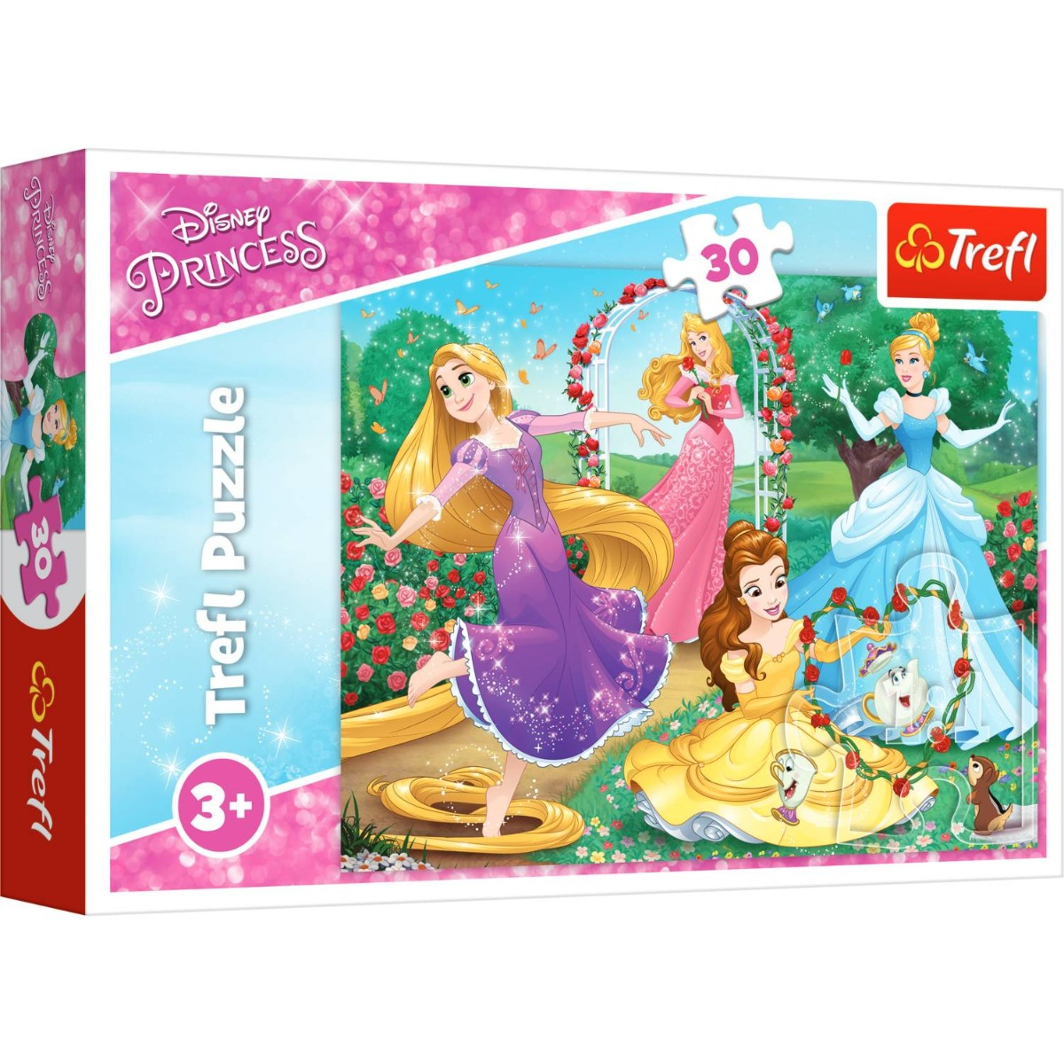 Puzzle Trefl 30 piese, Fii o printesa, Disney Princess