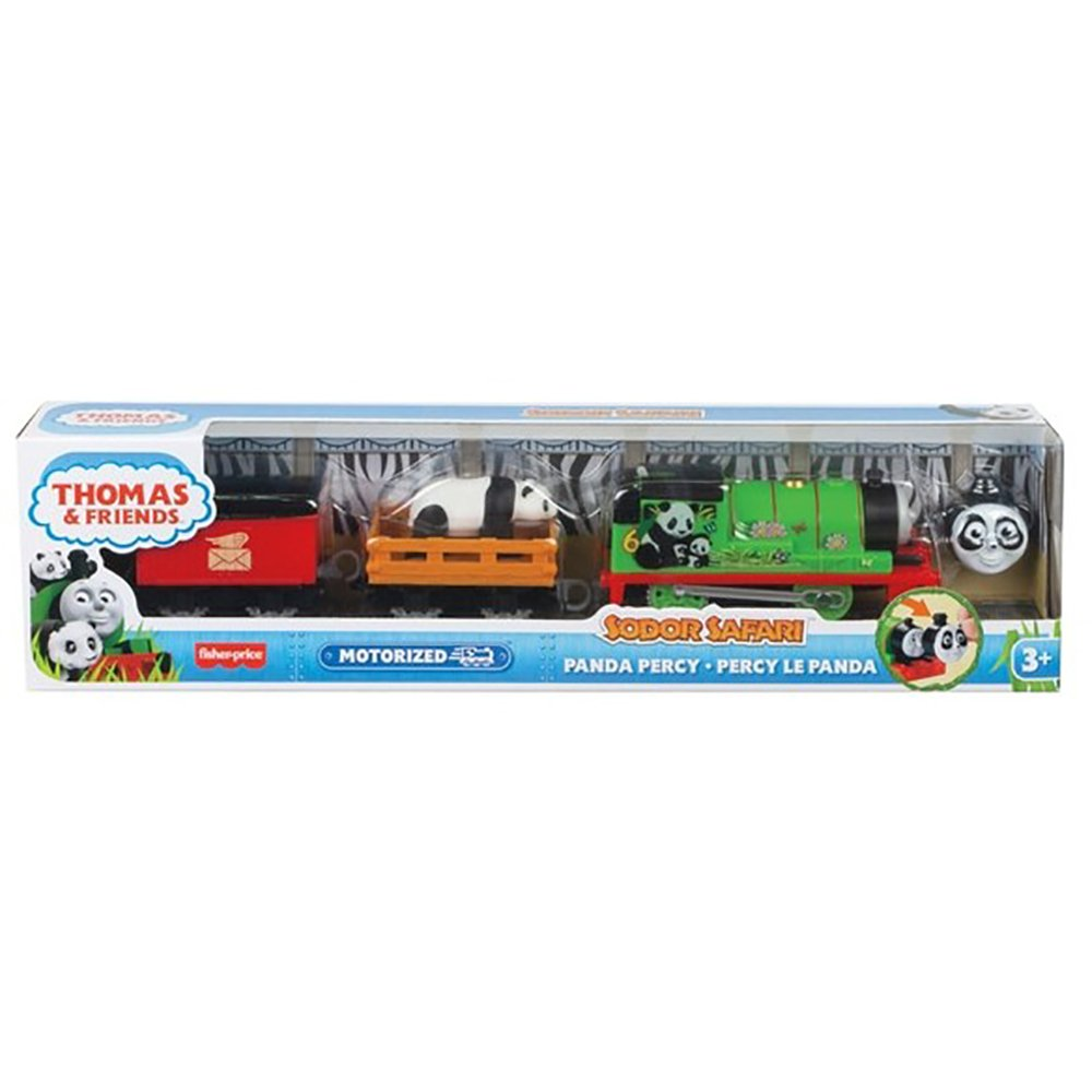 Locomotiva motorizata Thomas and Friends, Safari cu animalute, Panda Percy