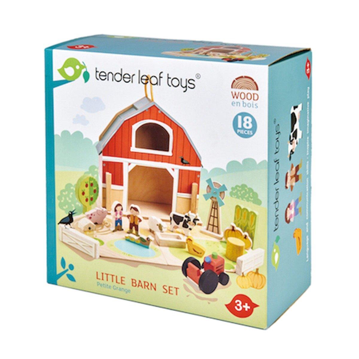 Set de joaca, Micul hambar din lemn, Tender Leaf Toys, Little Barn, 18 piese imagine