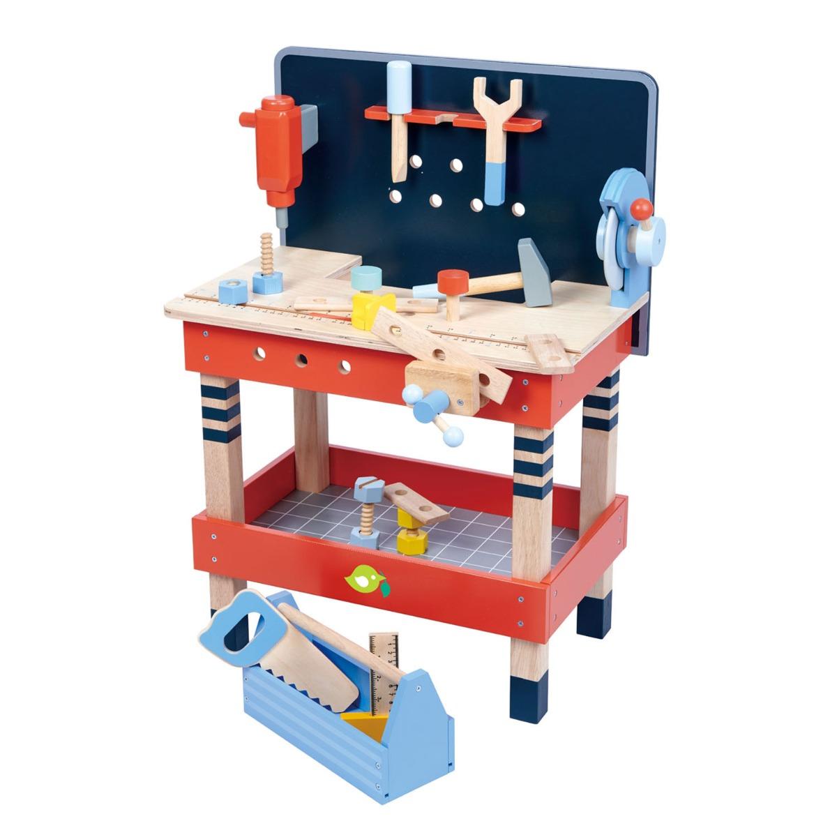 Set de joaca din lemn, Atelier de lucru, Tender Leaf Toys, 19 piese imagine