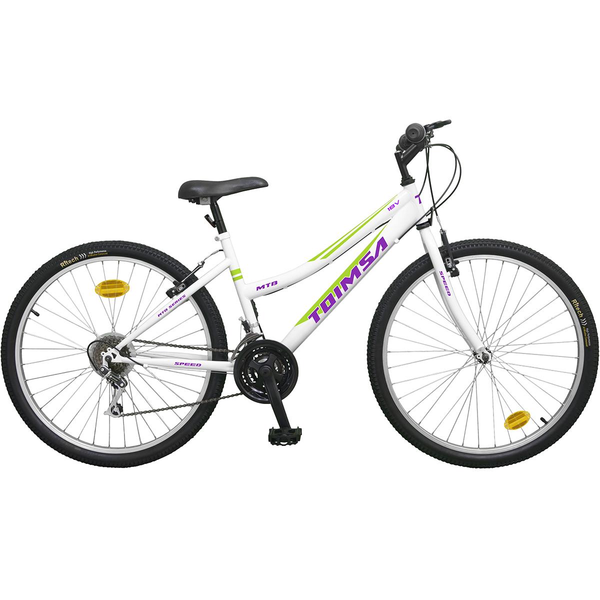 Bicicleta Toimsa, 26 inch, MTB, White, 18V