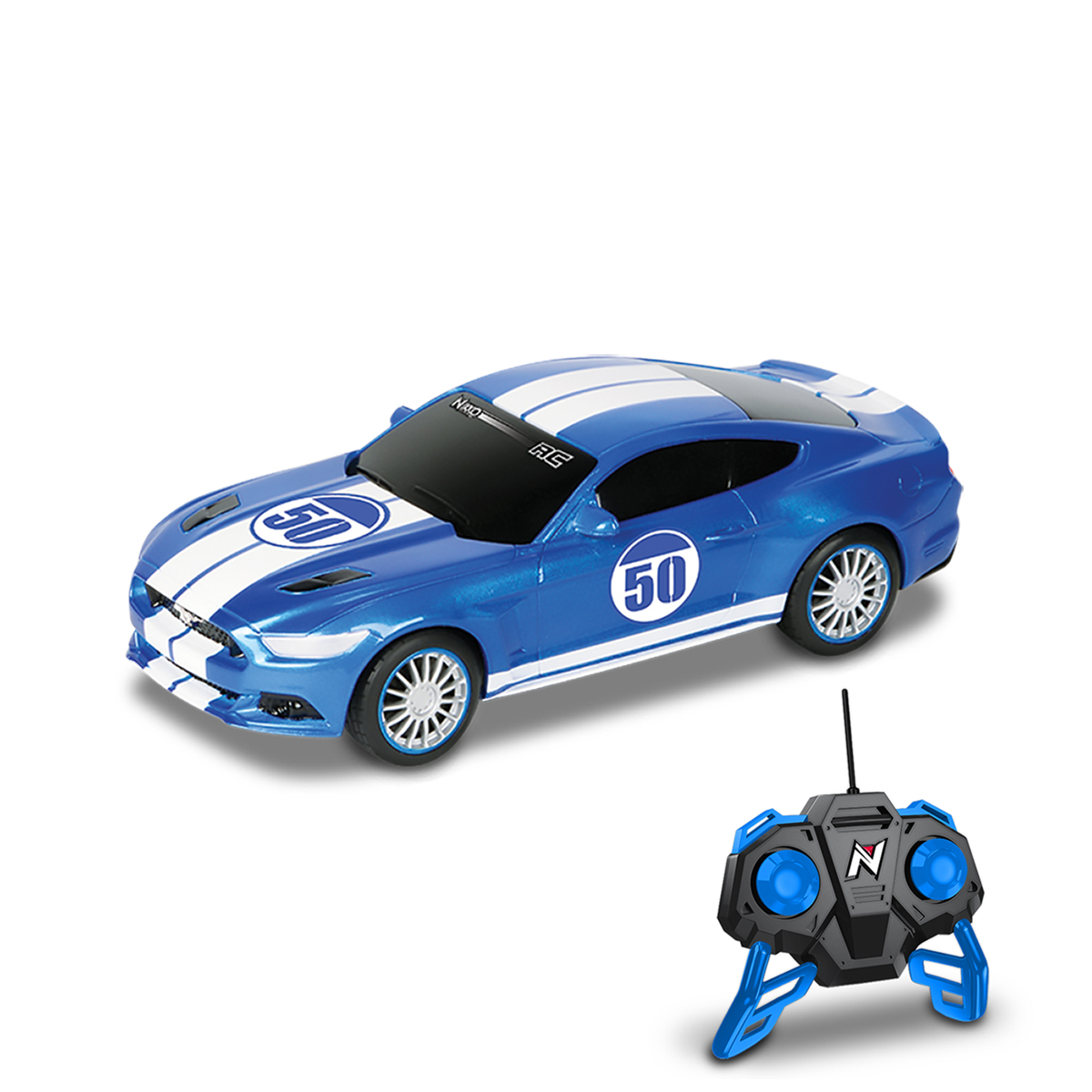masina cu telecomanda toy state nikko street cars - ford mustang gt 1:20