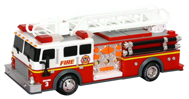 toy state road rippers rush& rescue - masina de pompieri cu scara si carlig