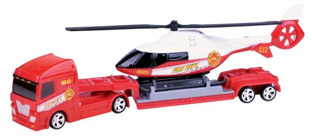 trailer cu elicopter de salvare motormax