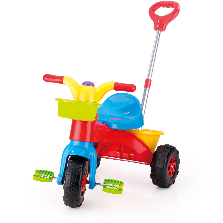 tricicleta copii cu sistem de ghidare dolu my first trike, rosu