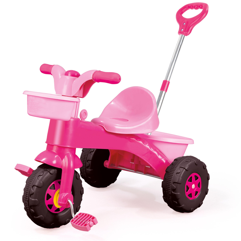 tricicleta copii cu sistem de ghidare dolu my first trike, roz