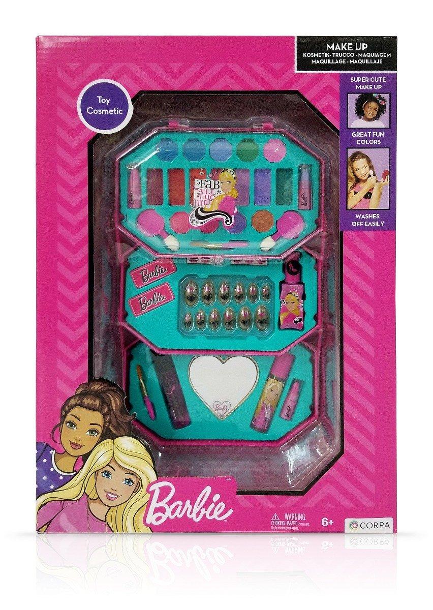Trusa de Make-up octogonala, cu 3 niveluri, Barbie