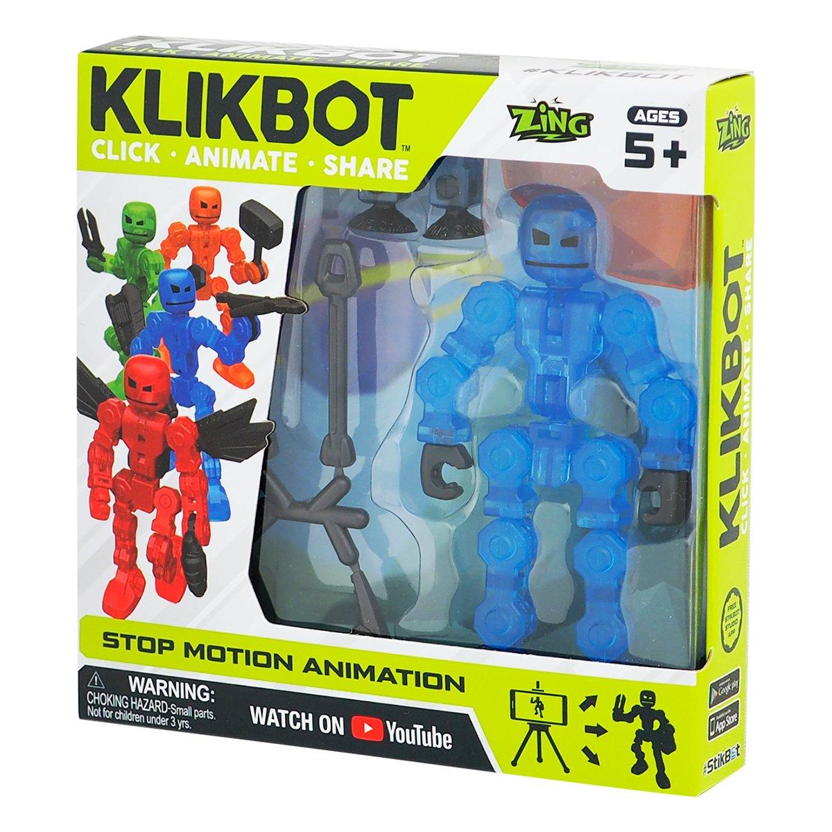 Figurina Robot articulat transformabil KlikBot, Blue