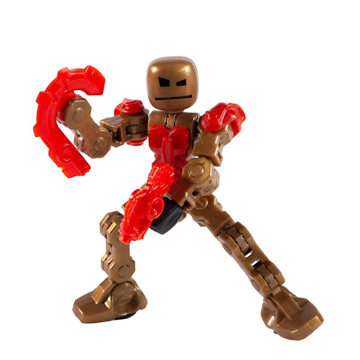 Figurina Robot articulat transformabil KlikBot, Blaze