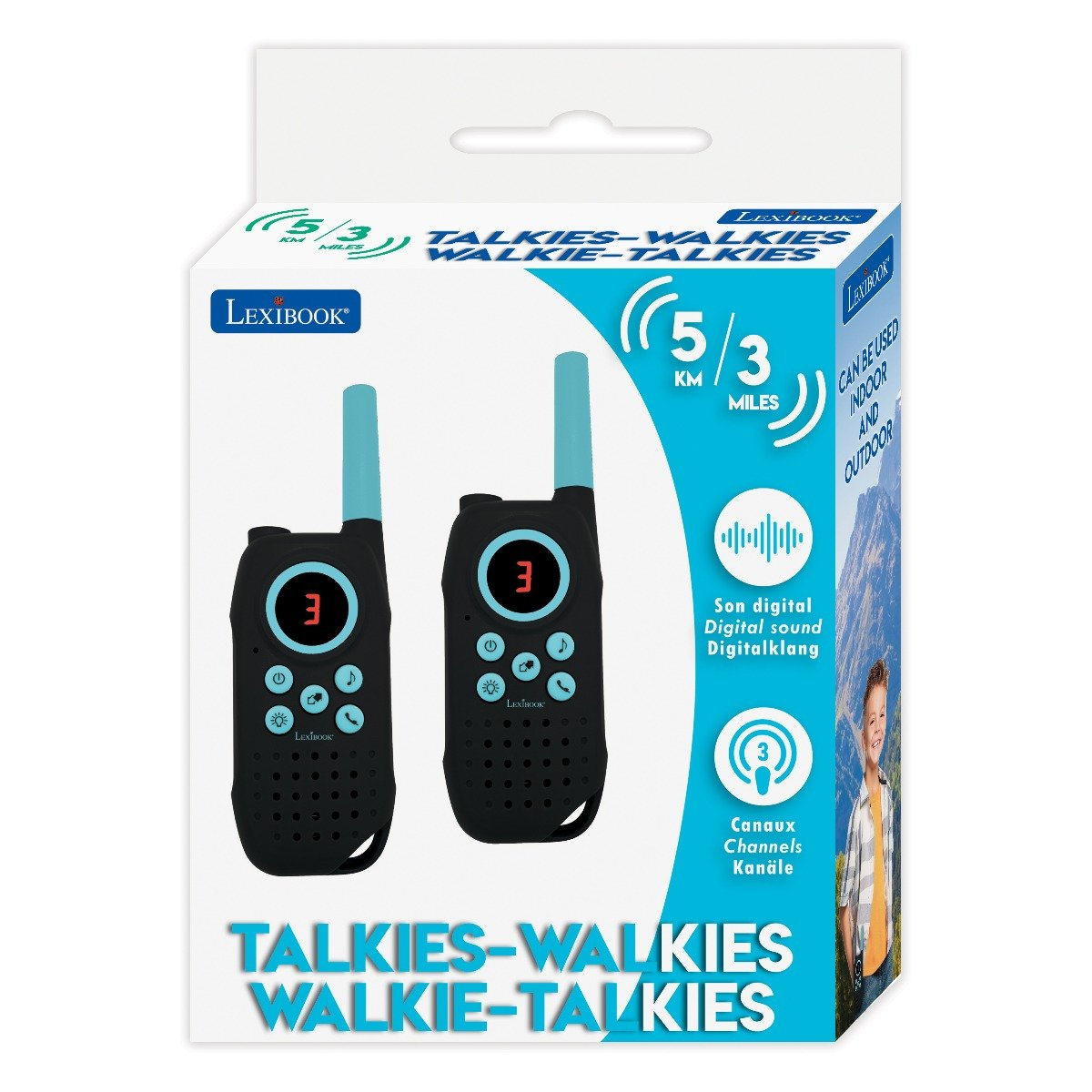 Statie Walkie Talkies Lexibook, 5 km