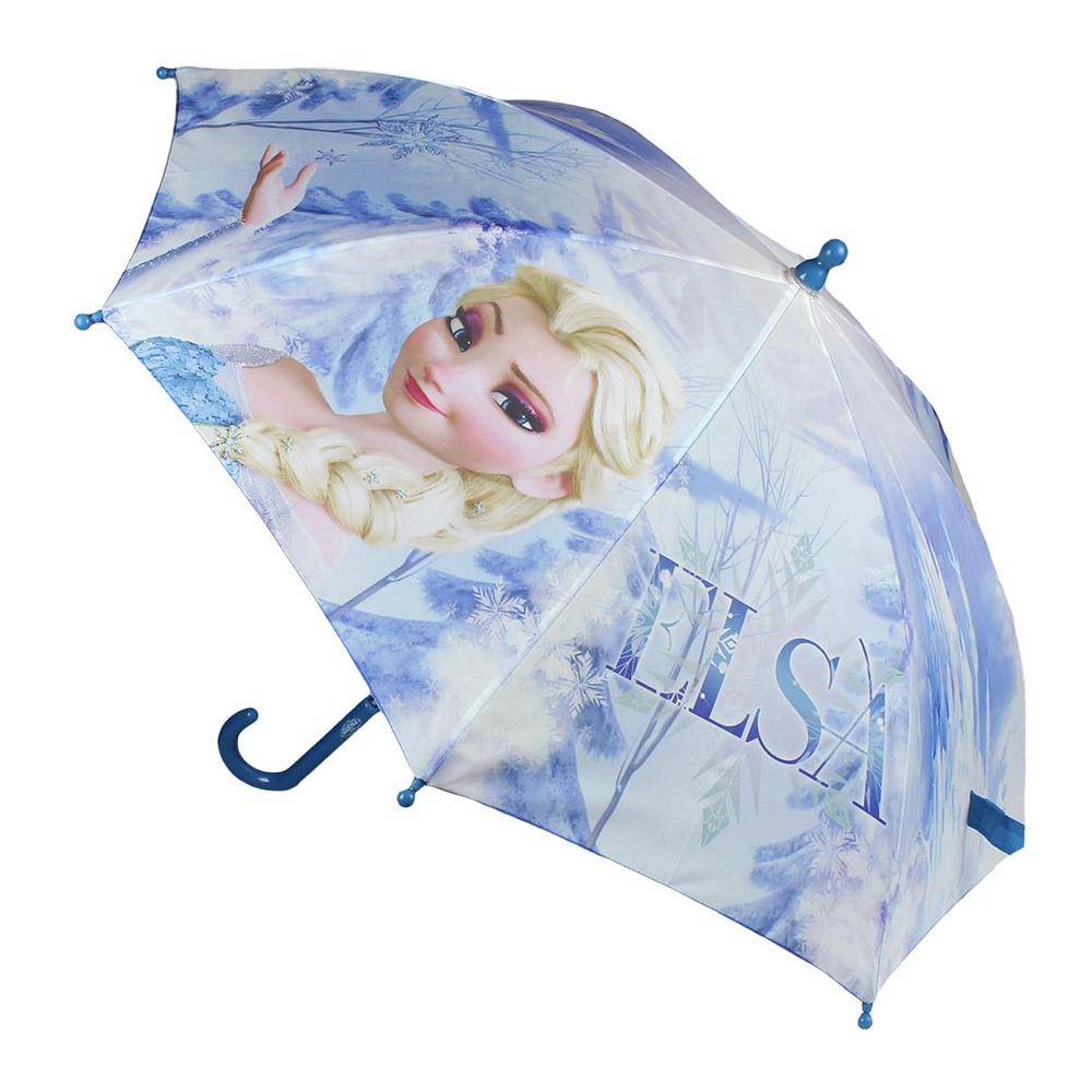umbrela disney frozen - elsa, 42 cm, bleu