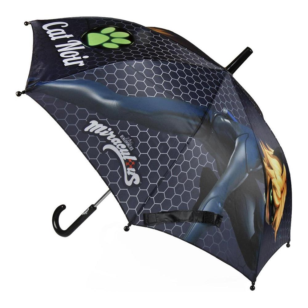 umbrela lady bug, 42 cm, negru
