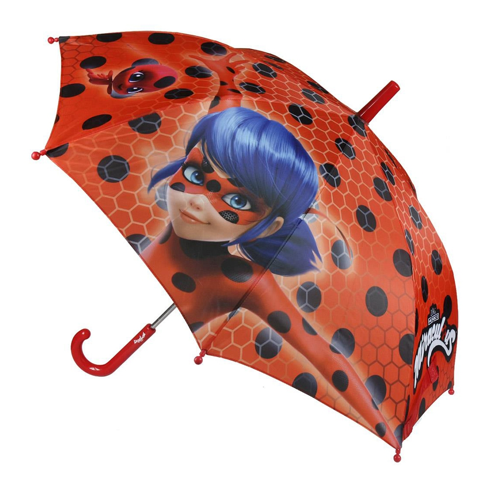 umbrela lady bug, 42 cm, rosu