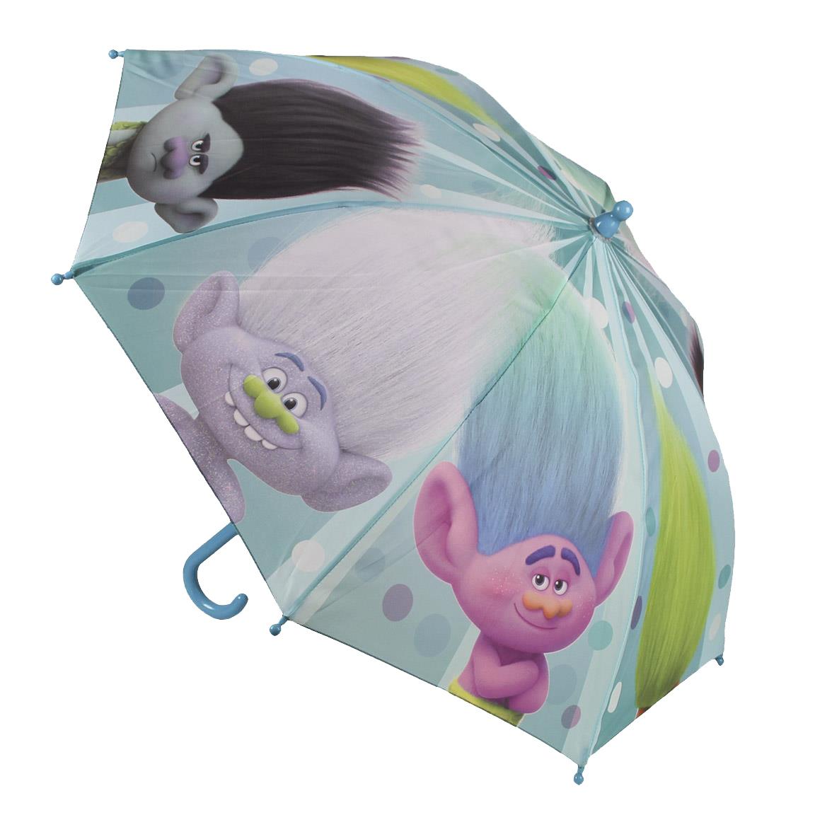umbrela trolls, 42 cm, albastru