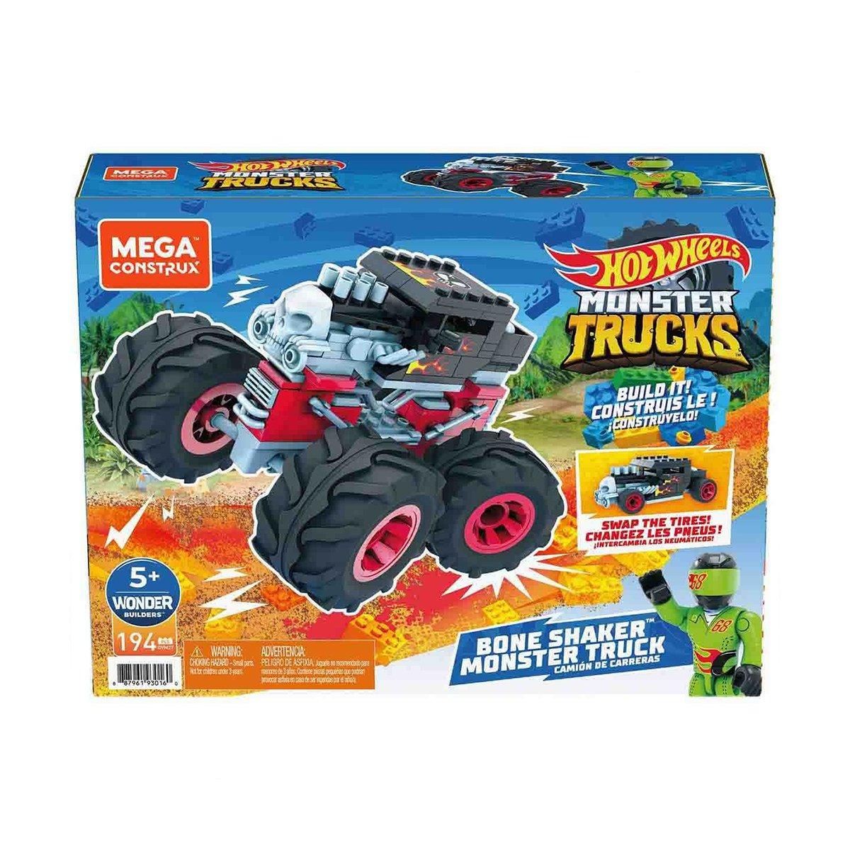 Masinuta Hot Wheels, Megaconstrux, Mini Trucks, GVM27