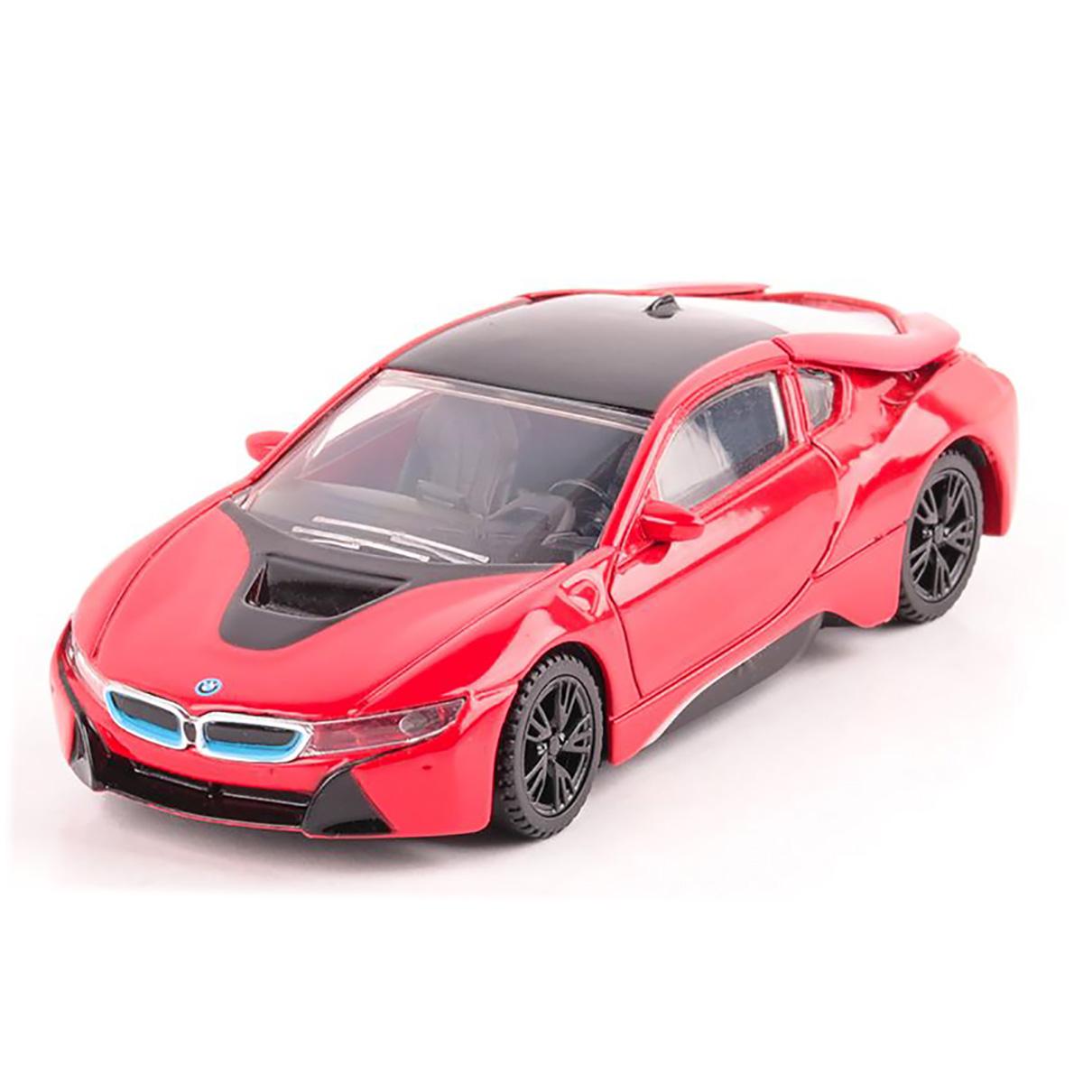 Masinuta Rastar BMW I8, Rosu, 1:43