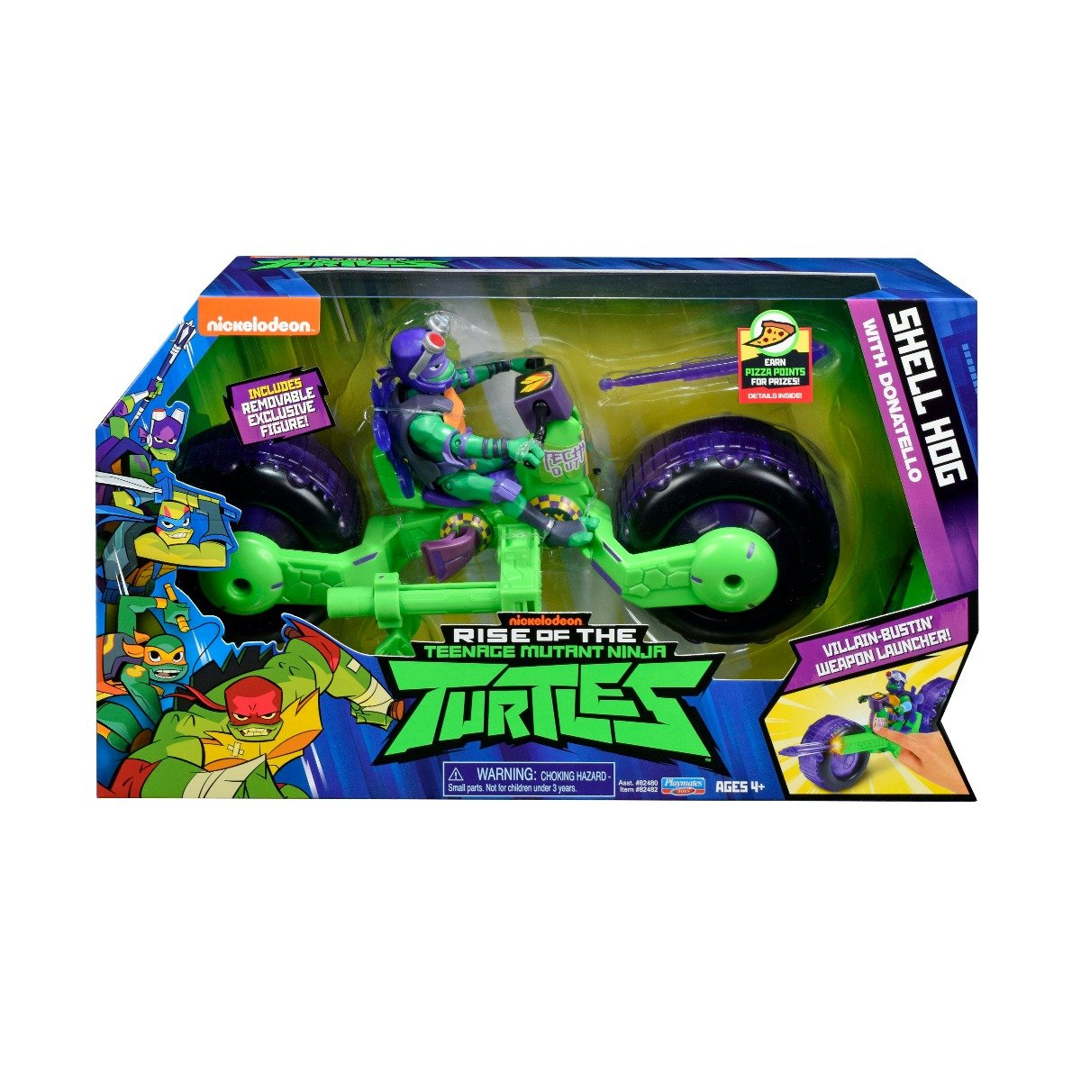 Vehicul cu figurina Testoasele Ninja Donatello