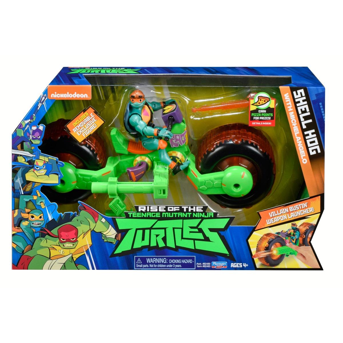 Vehicul cu figurina Testoasele Ninja Michelangelo