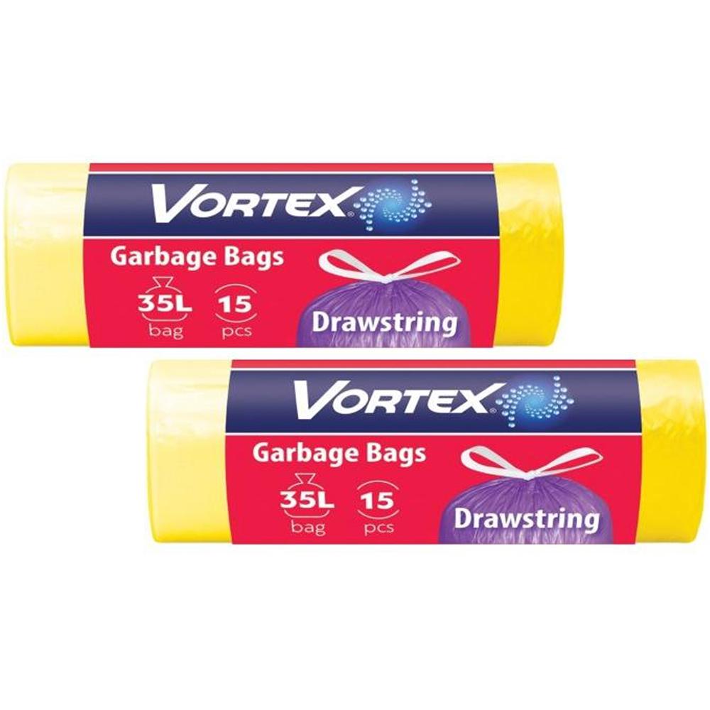 Set 2 pachete saci de gunoi cu manere Vortex (35 L/15 buc) imagine