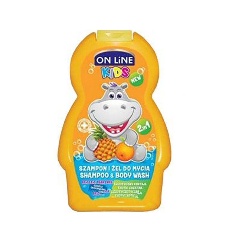 Sampon, Gel de dus On Line Kids Exotic 250, ml