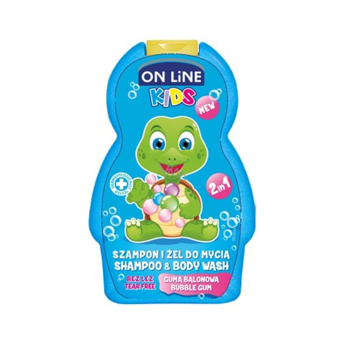 Sampon, Gel de dus On Line Kids Bubble Gum, 250 ml