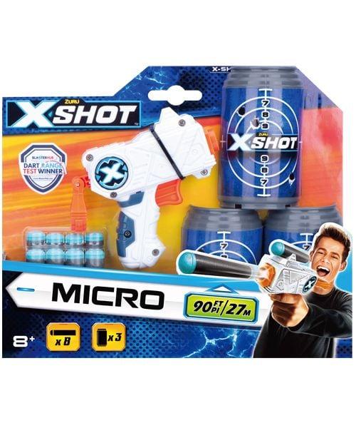 Pistol X-Shot Excel Micro cu 8 gloante de spuma si 3 tinte imagine