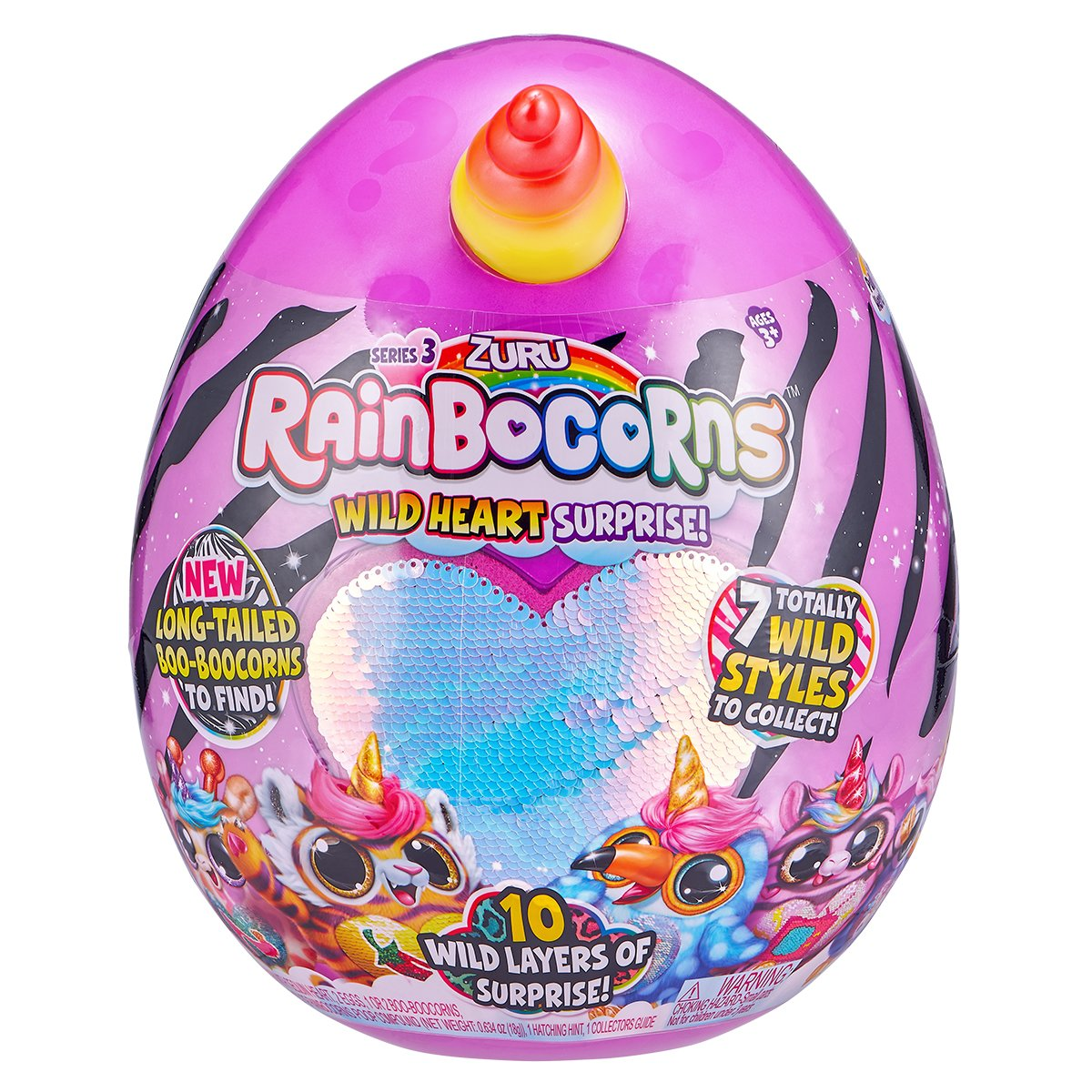 Jucarie de plus squishy Unicornul Curcubeu S3, Zuru Rainbocorns