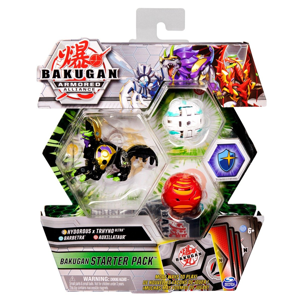Set Bakugan Armored Alliance, Hydorous x Thryno Ultra, Barbetra, Auxillataur, 20125406